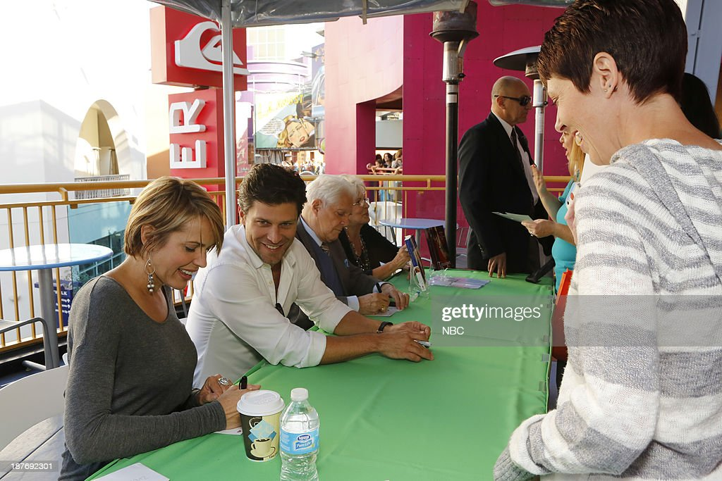 LIVES -- 'Universal Fan Event' -- Pictured: (l-r) Arianne Zucker, Greg Vaughan, Bill Hayes at the Universal City Fan Event on November 9, 2013 --