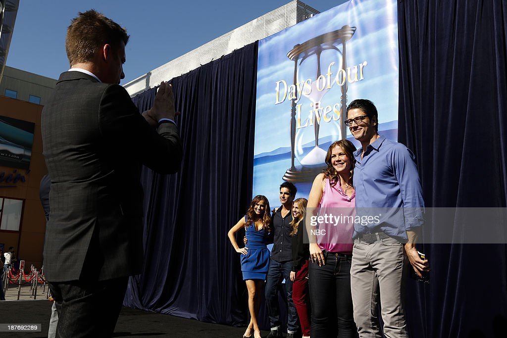 LIVES -- 'Universal Fan Event' -- Pictured: (l-r) Chrishell Stause, Galen Gering, Kate Mansi, Alison Sweeney, James Scott at the Universal City Fan Event on November 9, 2013 --
