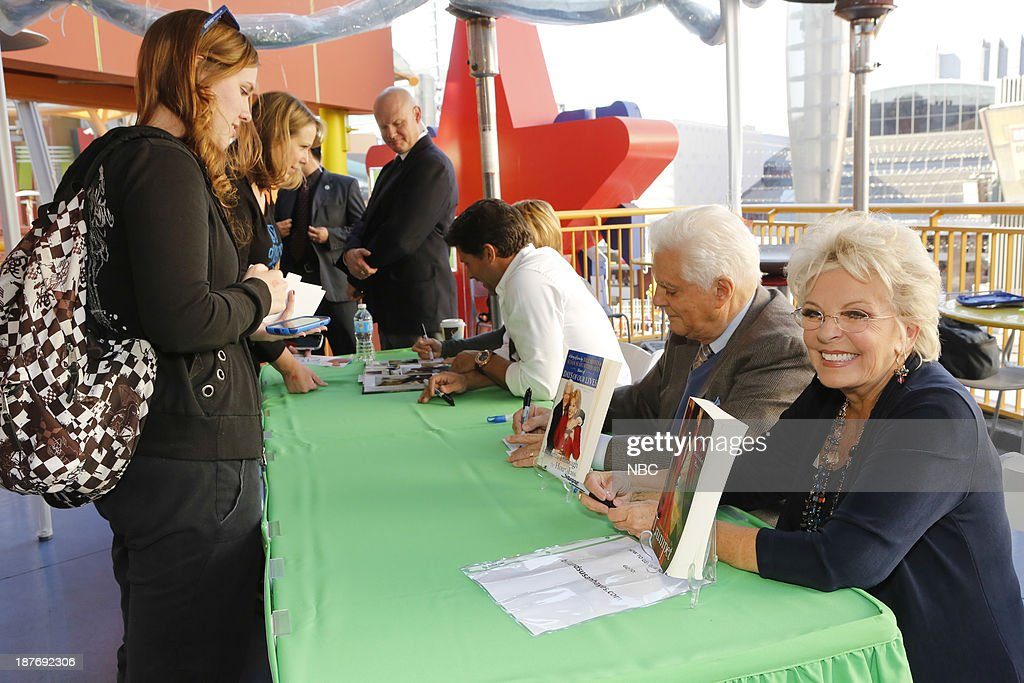 LIVES -- 'Universal Fan Event' -- Pictured: (l-r) Greg Vaughan, Bill Hayes, Susan Seaforth Hayes at the Universal City Fan Event on November 9, 2013 --