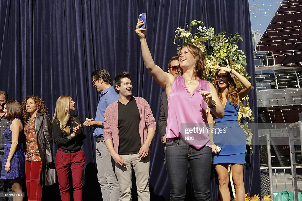 LIVES -- 'Universal Fan Event' -- Pictured: (l-r) Jen Lilley, Meredith Scott Lynn, Kate Mansi, James Scott, Freddie Smith, Eric Martsolf, Alison Sweeney, Chrishell Stause at the Universal City Fan Event on November 9, 2013 --