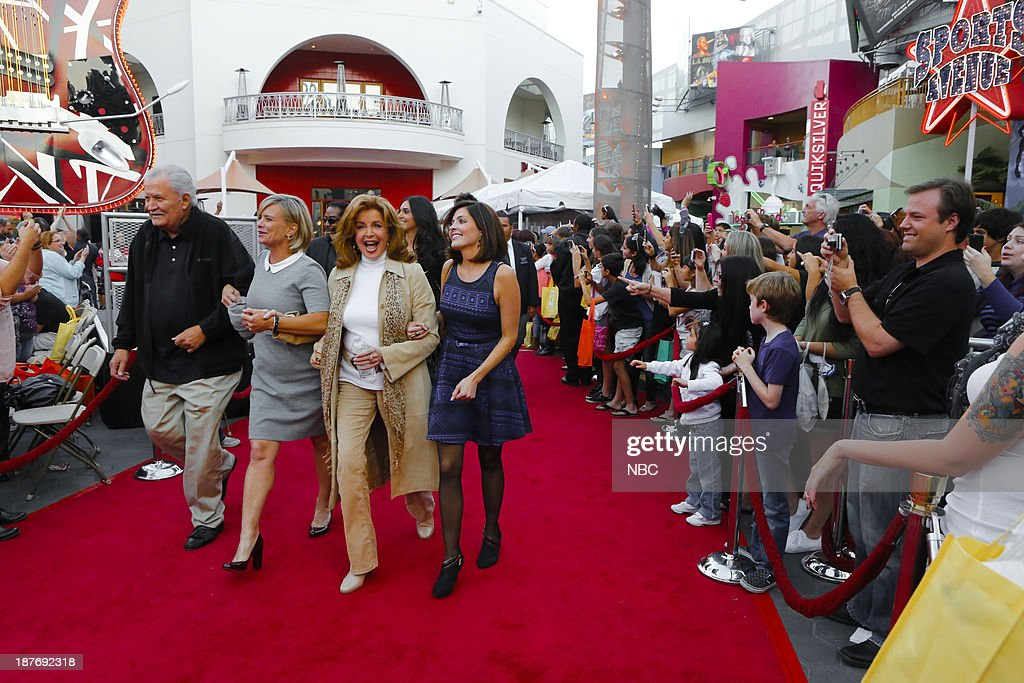 LIVES -- 'Universal Fan Event' -- Pictured: (l-r) John Anison, Mary Beth Evans, Suzanne Rogers, Jen Lilley at the Universal City Fan Event on November 9, 2013 --