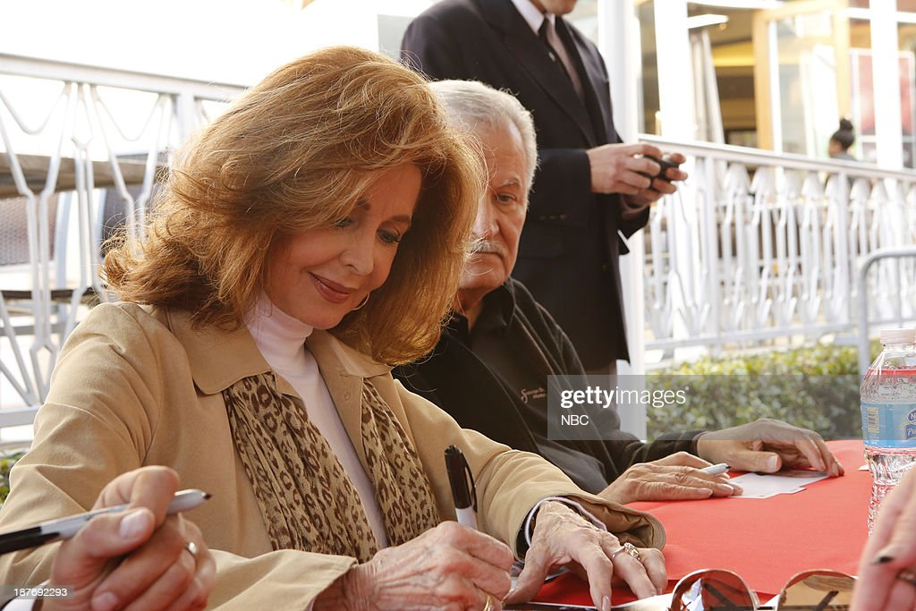 LIVES -- 'Universal Fan Event' -- Pictured: (l-r) Suzanne Rogers, John Aniston at the Universal City Fan Event on November 9, 2013 --