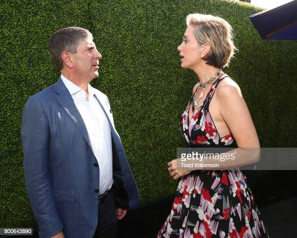 Universal Filmed Ent Chairman Jeff Shell and Kristen Wiig attend the Premiere Of Universal Pictures And Illumination Entertainment's 'Despicable Me...