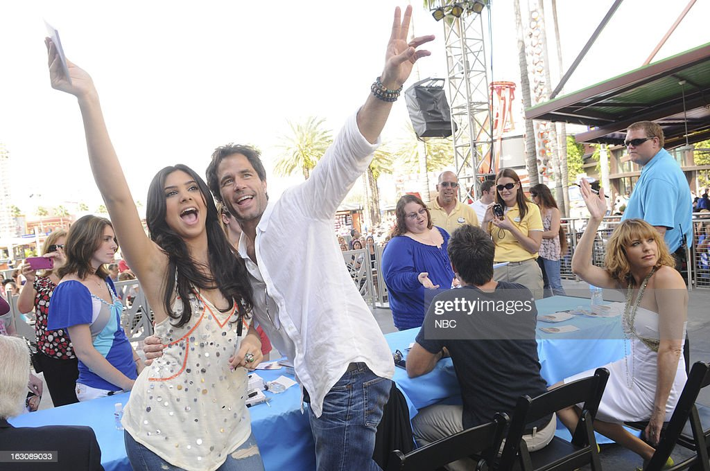 LIVES -- 'Universal Orlando Resort Fan Event' -- Pictured: (l-r) Camila Banus, <a gi-track='captionPersonalityLinkClicked' href=/galleries/search?phrase=Shawn+Christian&family=editorial&specificpeople=984129 ng-click='$event.stopPropagation()'>Shawn Christian</a> --
