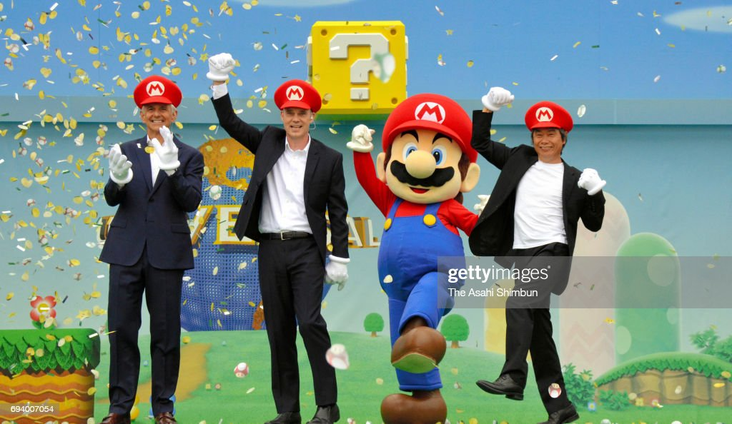 'Super Nintendo World' Area Groundbreaking Ceremony At USJ