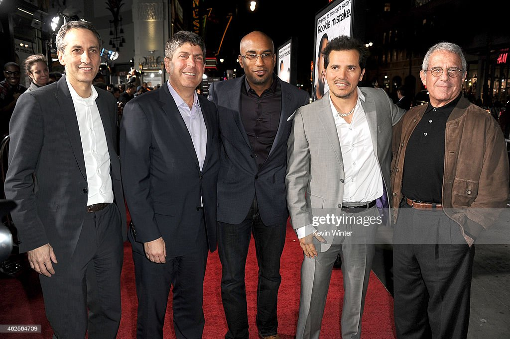 Universal Pictures Executive Vice President Peter Cramer, Universal Filmed Entertainment Chairman Jeff Shell, Director Tim Story, Actor John Leguizamo and NBC Universal Vice Chairman Ron Meyer attend the Premiere Of Universal Pictures' 'Ride Along' at TCL Chinese Theatre on January 13, 2014 in Hollywood, California.