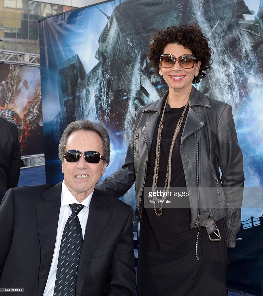 Universal Pictures vice chairman and COO Rick Finkelstein (L) and Universal Pictures co-chairman Donna Langley arrive at the premiere of Universal Pictures' 'Battleship' at Nokia Theatre L.A. Live on May 10, 2012 in Los Angeles, California.