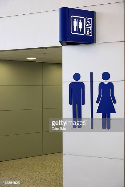 Universal sign for restroom
