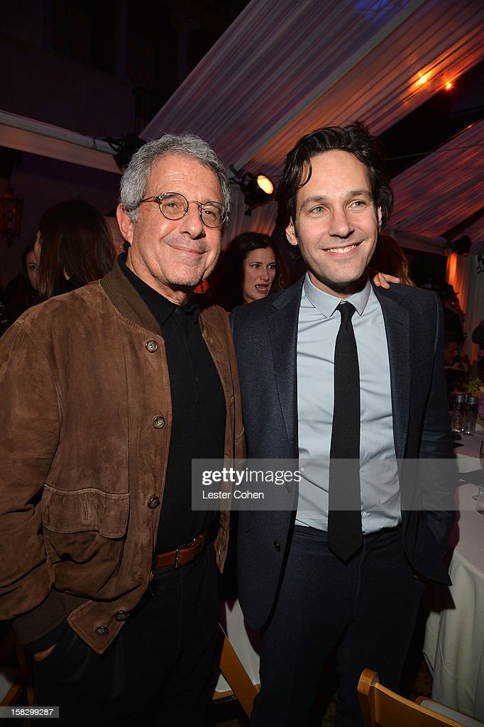 Universal Studios President and COO Ron Meyer and actor Paul Rudd attend 'This Is 40' - Los Angeles Premiere - After Party at Grauman's Chinese Theatre on December 12, 2012 in Hollywood, California.