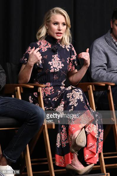 EVENTS 'Universal Television TCA Studio Day' Pictured Kristen Bell The cast and creator of 'The Good Place' gather on the Universal Studios backlot...