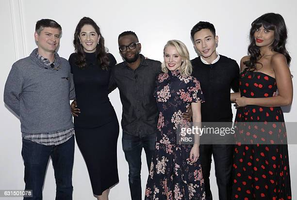 EVENTS 'Universal Television TCA Studio Day' Pictured Michael Schur Executive Producer D'Arcy Carden William Jackson Harper Kristen Bell Manny...