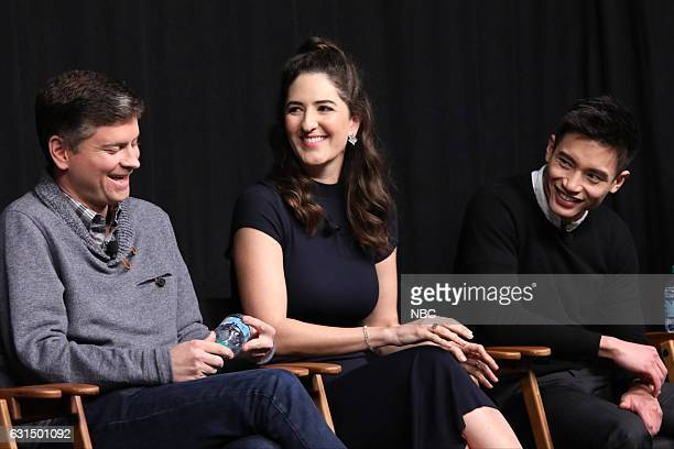 EVENTS 'Universal Television TCA Studio Day' Pictured Michael Schur Executive Producer D'Arcy Carden Manny Jacinto The cast and creator of 'The Good...