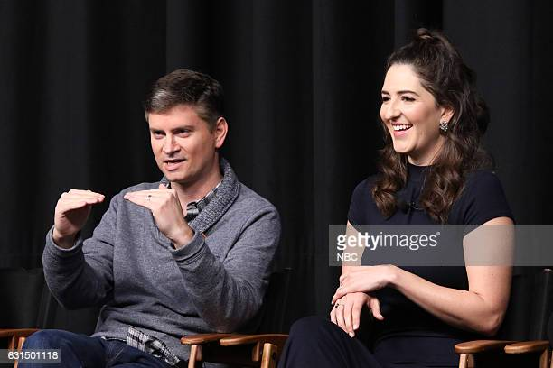 EVENTS 'Universal Television TCA Studio Day' Pictured Michael Schur Executive Producer D'Arcy Carden The cast and creator of 'The Good Place' gather...