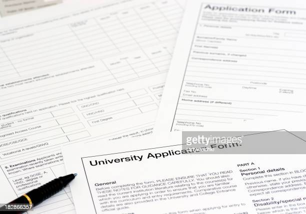 University application forms