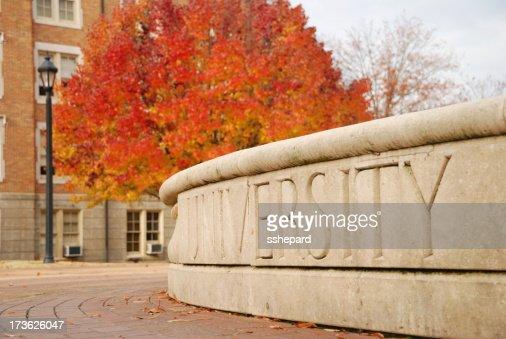 University in Autumn