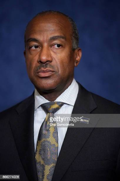 University of California Davis Chancellor Gary May speaks during a news conference with Democrats from the House and Seante 'Dreamers' and fellow...