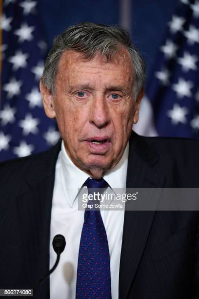 University of California Regent Richard Blum speaks during a news conference with Democrats from the House and Seante 'Dreamers' and fellow...