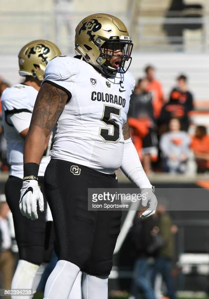 University of Colorado DB Trey Udoffia on the field during a break in the action during a college football game between the Colorado Buffaloes and...