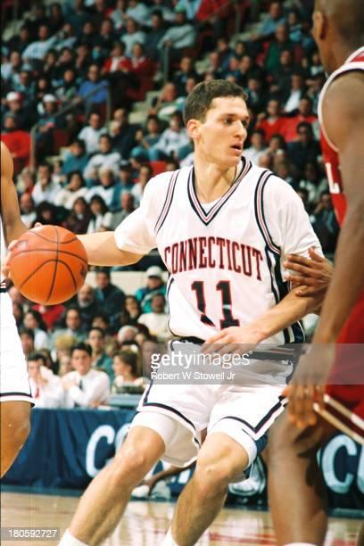 University of Connecticut basketball player Doron Sheffer runs the offense Hartford Connecticut 1995