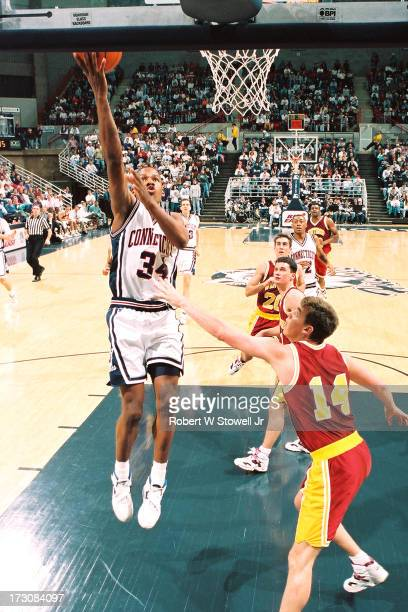 University of Connecticut basketball player Ray Allen with the ball Storrs Connecticut 1994
