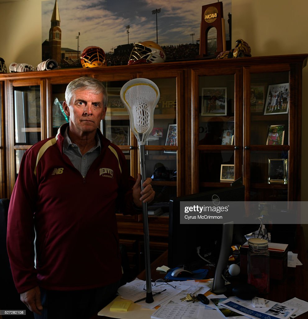 University of Denver mens lacrosse coach Bill Tierney in his office on the campus on Monday, May 02, 2016. Tierney has his Pioneers back in position to return to the NCAA tourney to defend their title from last year.