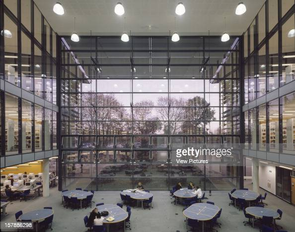 University Of Hertfordshire Hatfield United Kingdom Architect Rmjm University Of Hertfordshire Study Area At Dusk