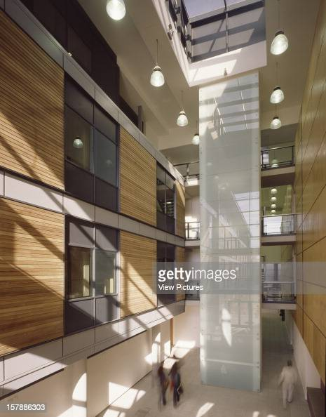 University Of Hertfordshire Hatfield United Kingdom Architect Rmjm University Of Hertfordshire Portrait View Of Corridor And Lift Shaft