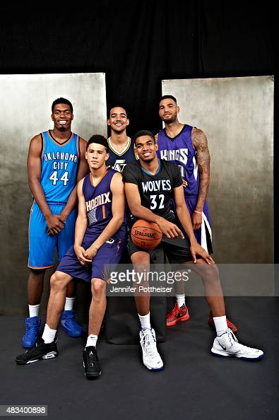 University of Kentucky draftees Dakari Johnson of the Oklahoma City Thunder Devin Booker of the Phoenix Suns Trey Lyles of the Utah Jazz KarlAnthony...