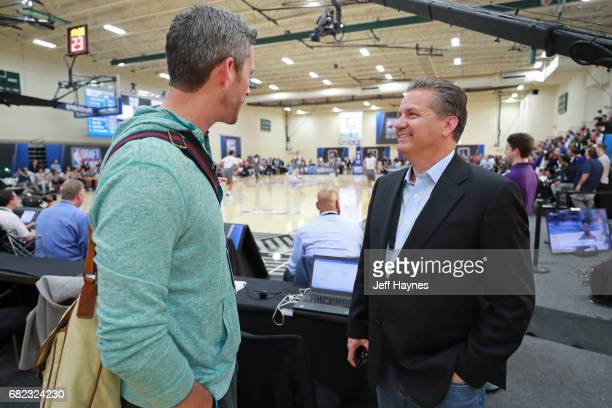 University of Kentucky head coach John Calipari attends the NBA Draft Combine at the Quest Multisport Center on May 11 2017 in Chicago Illinois NOTE...