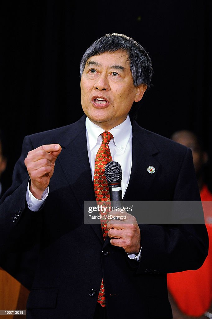 University of Maryland President Wallace D. Loh announces Maryland's decision to join the Big Ten Conference during a press conference on November 19, 2012 in College Park, Maryland.
