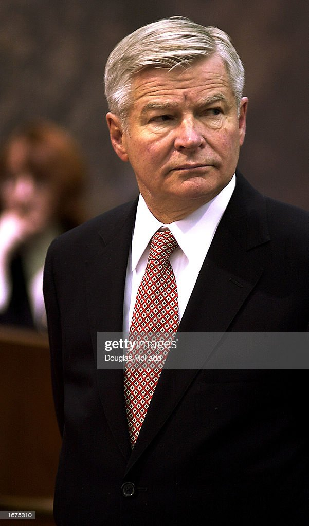 University of Massachusetts President William Bulger brother of fugitive Boston mobster James 'Whitey' Bulger stands before a congressional committee...