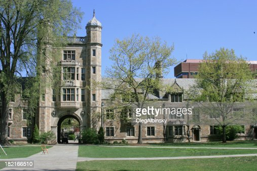 University of Michigan Law School, Ann Arbor. Clear blue sky.