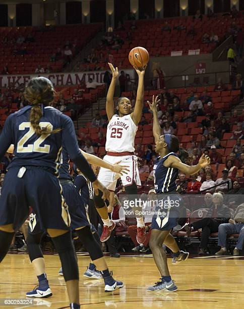 University of Oklahoma player Goya Carter shoots the ball during the Oral Roberts University vs University of Oklahoma NCAA Women's Basketball game...
