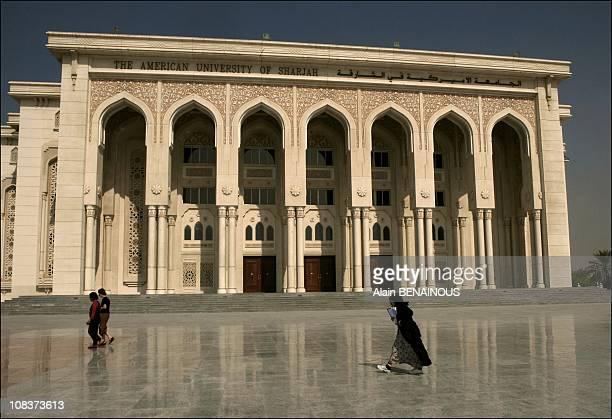 University of Sharjah built by Francis Gambert for the Emir Bin Mohamed Al Yassini it looks like the Invalides in Dubai United Arab Emirates on...