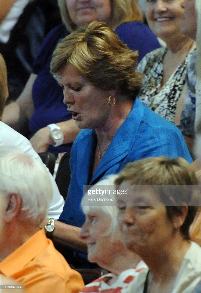 University of Tennessee Hall of Fame Basketball Head Coach Pat Summitt attends Dolly Parton's 'Better Day' world tour opener at the ThompsonBoling...