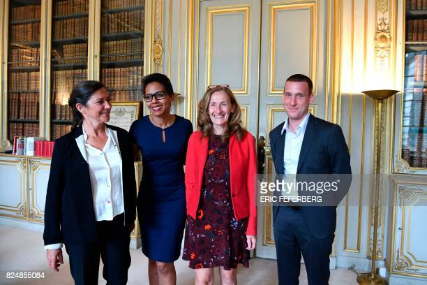 University professor and director of the public law department of the Sorbonne doctorate in Law school MarieAnne Cohendet French journalist Audrey...