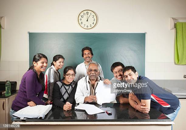 University Professor with his students