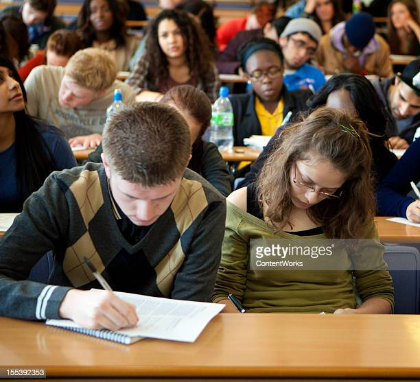 University student in lecture room.