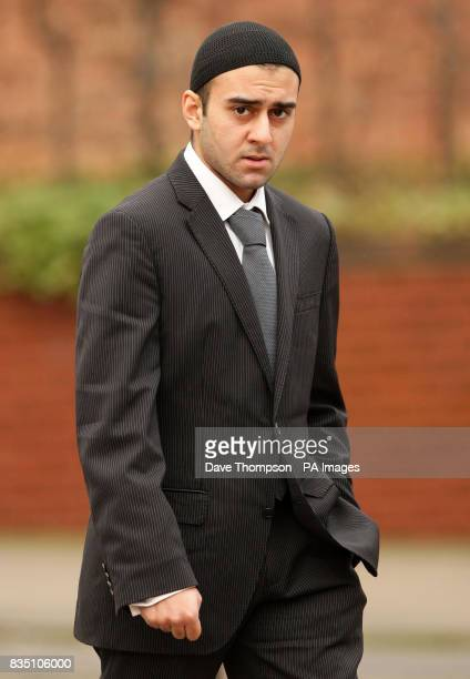 University student Tosif Patel arrives at Preston Crown Court where he was due to be sentenced after being convicted of causing the death by...