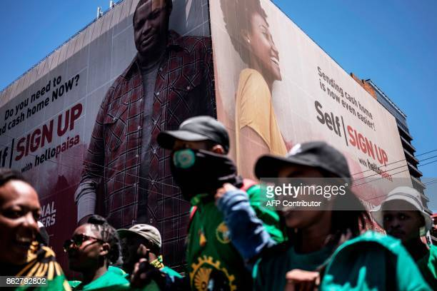 University students of the Pan African Student Movement of Azania stage a demonstration in Pretoria on October 18 2017 Students gathered in Pretoria...