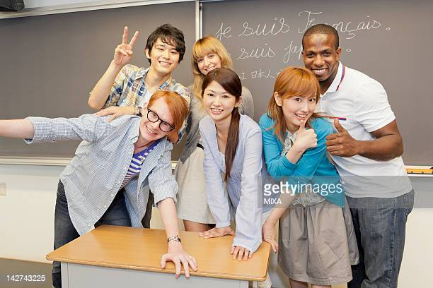 University students posing for group photo