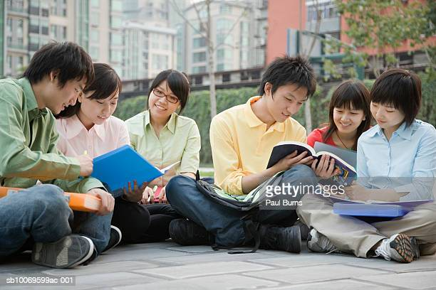 University students sitting together and discussing