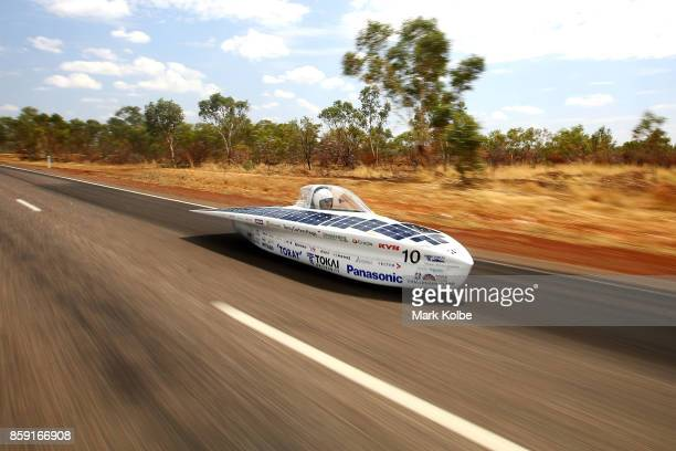 University Tokai Challenger vehicle 'Tokai' from Japan races between Renner Springs and Tennants Creek in the Challenger Class on Day 2 of the 2017...