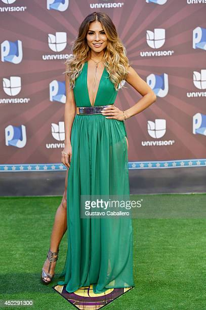Univision host Alejandra Espinoza attends the Premios Juventud 2014 at The BankUnited Center on July 17 2014 in Coral Gables Florida
