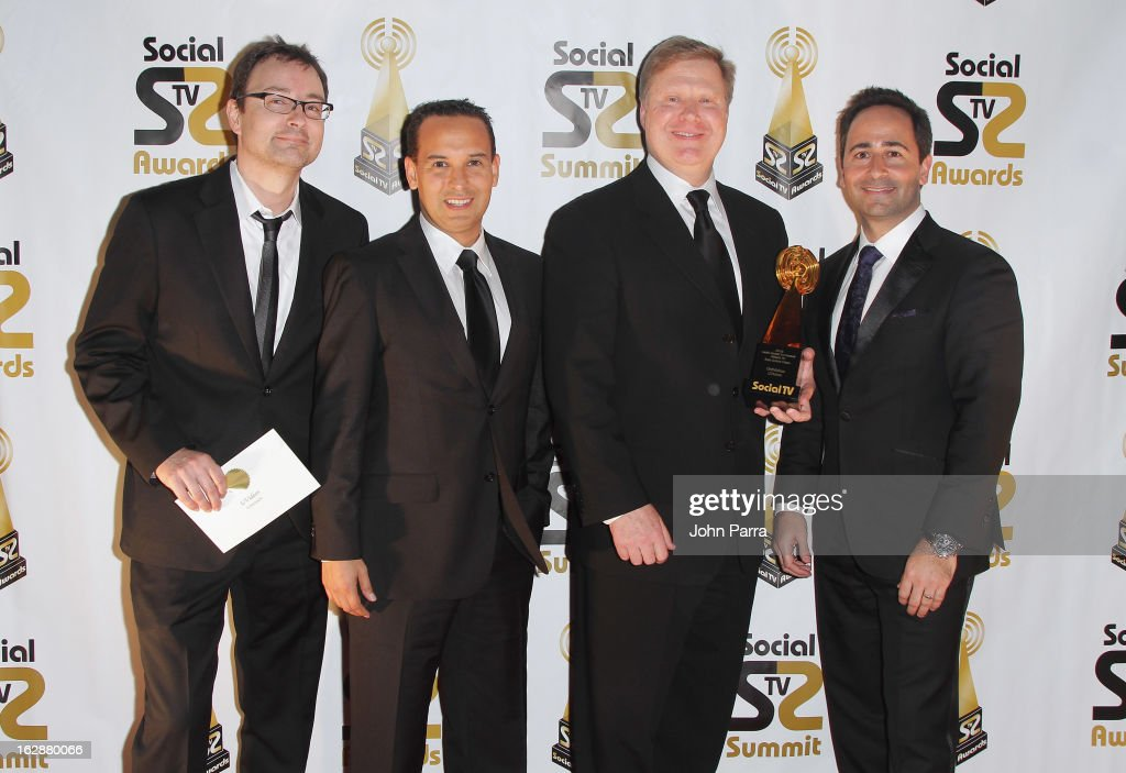 Univision's Luciano Ibias, Jose Hernandez, Kevin Conroy and David Beck attend the 2013 Latin Social TV Awards at Fontainebleau Miami Beach on February 28, 2013 in Miami Beach, Florida.