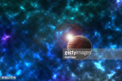 unknowed imaginary planet in a beautiful space, furnished by NASA : Stock Photo