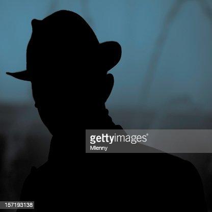 unknown, incognito silhouette