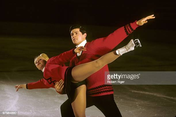 Unknown pair figure skaters are shown in an undated photo circa 1960s