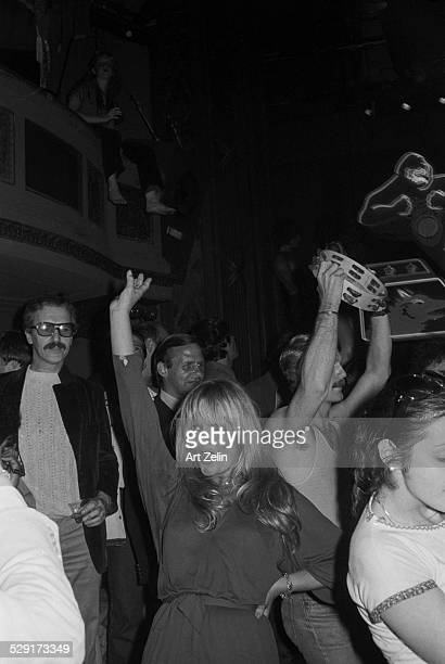 Unknown woman dancing at Studio 54 circa 1970 New York