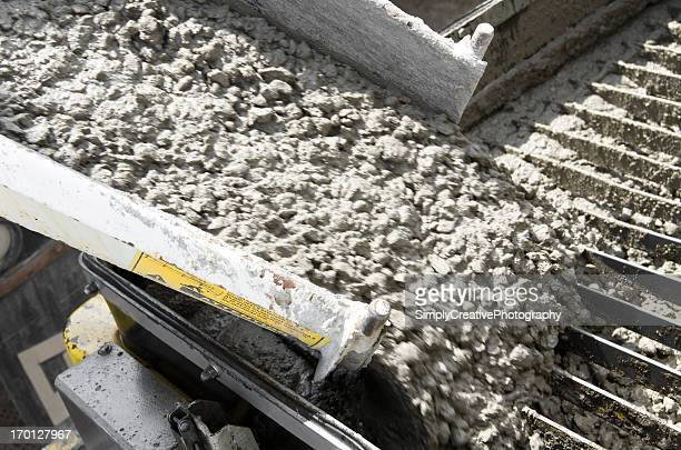 Unloading Cement at Construction Site
